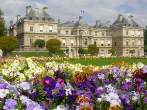 Jardines de Luxemburgo en primavera