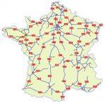 Mapa de las autopistas de Francia