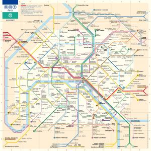 Mapa completo del Transporte en París (1800 x 1805 px)