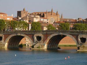 Vista de la ciudad de Toulouse desde el Pont Neuf