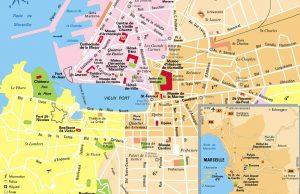Mapa de Marsella
