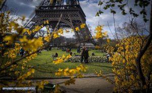 Jardines de la torre eiffel- Primavera-Francia