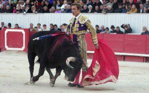 Corrida de toros en la Feria de pascuas en Francia.